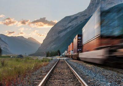 Freight Train Rail Track